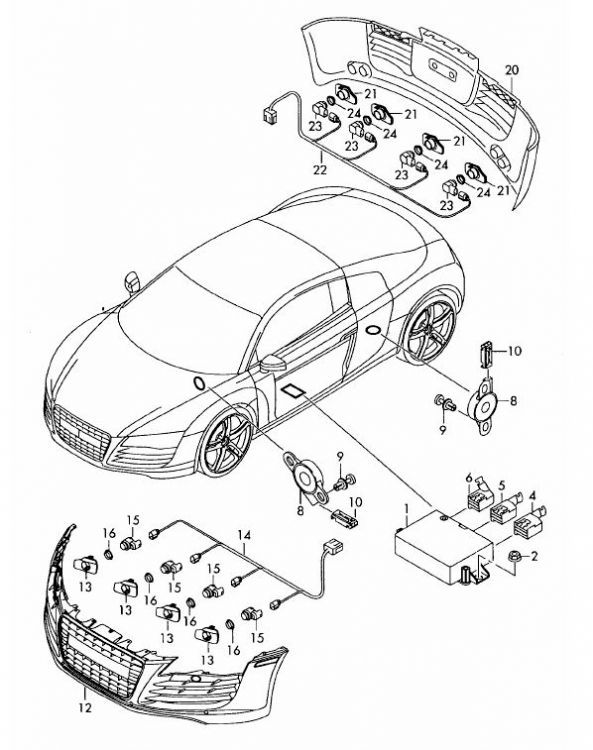 audi r8 drivetrain diagram