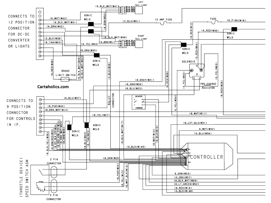 2013 club car precedent gas wiring diagram