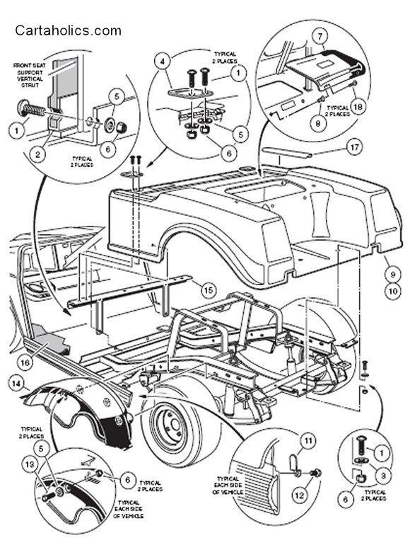 1992 club car golf cart engine diagram