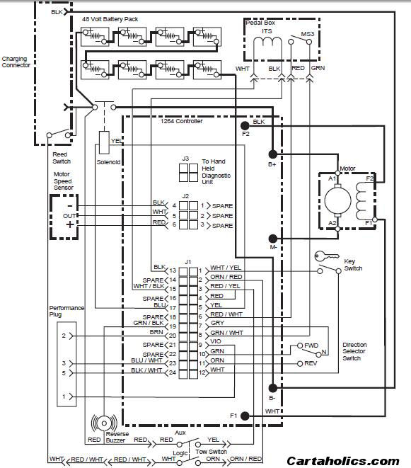 Club Car 48v Wiring Diagram Voltage Reducer Electrical Circuit