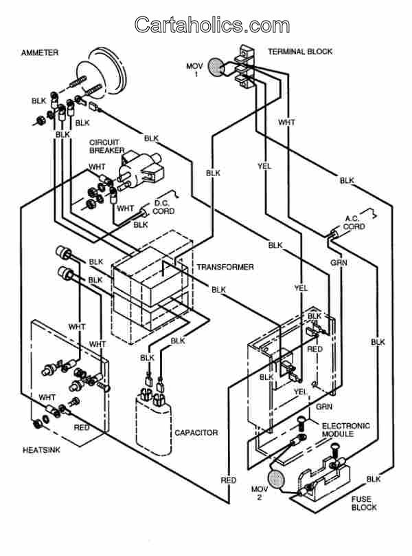 ezgo golf cart charger wiring diagram