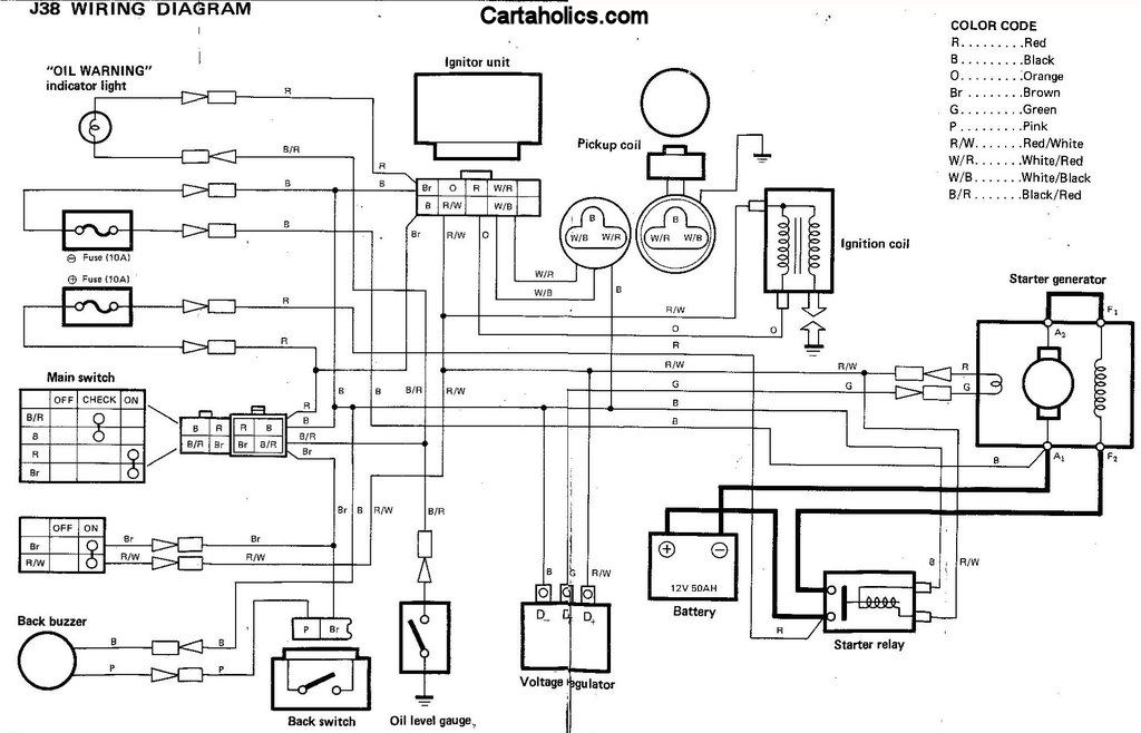yamaha golf cart electrical schematic