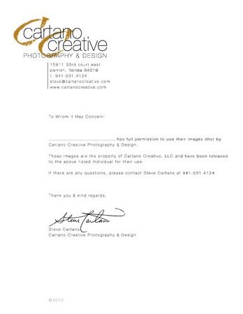 Cartano Creative Photography  Design Photo release form 2012 CC - photography release form