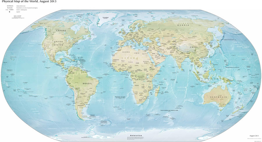 World Map Print, World Map