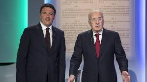 Renzi (Si) con De Mita (No) da Mentana, tre giorni fa