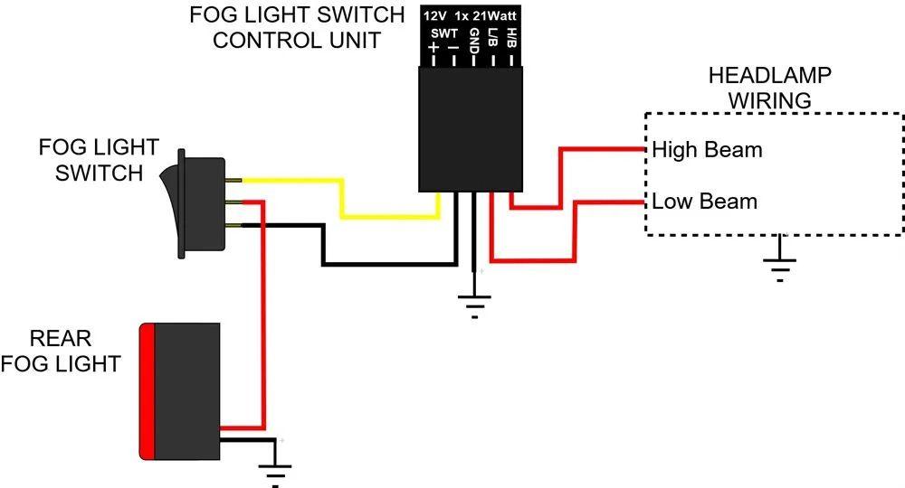 fog light toggle switch wiring diagram