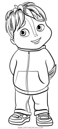 Disegni da colorare alvin for Alvin da colorare