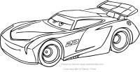 Disegno di Jackson Storm di Cars da colorare