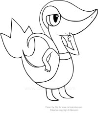 Disegno di Snivy dei Pokemon da colorare
