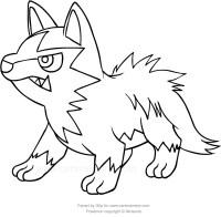 Disegno di Poochyena dei Pokemon da colorare