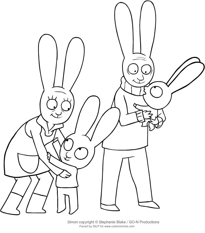 Disegno Di Simone E Gaspare Con I Nonni Da Colorare