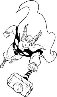 Disegno di Thor da colorare