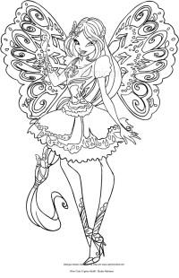 Disegno di Flora Butterflix (Winx Club) da colorare
