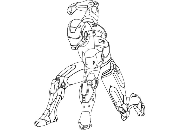 Iron Man Cartoon Coloring Pages - Costumepartyrun
