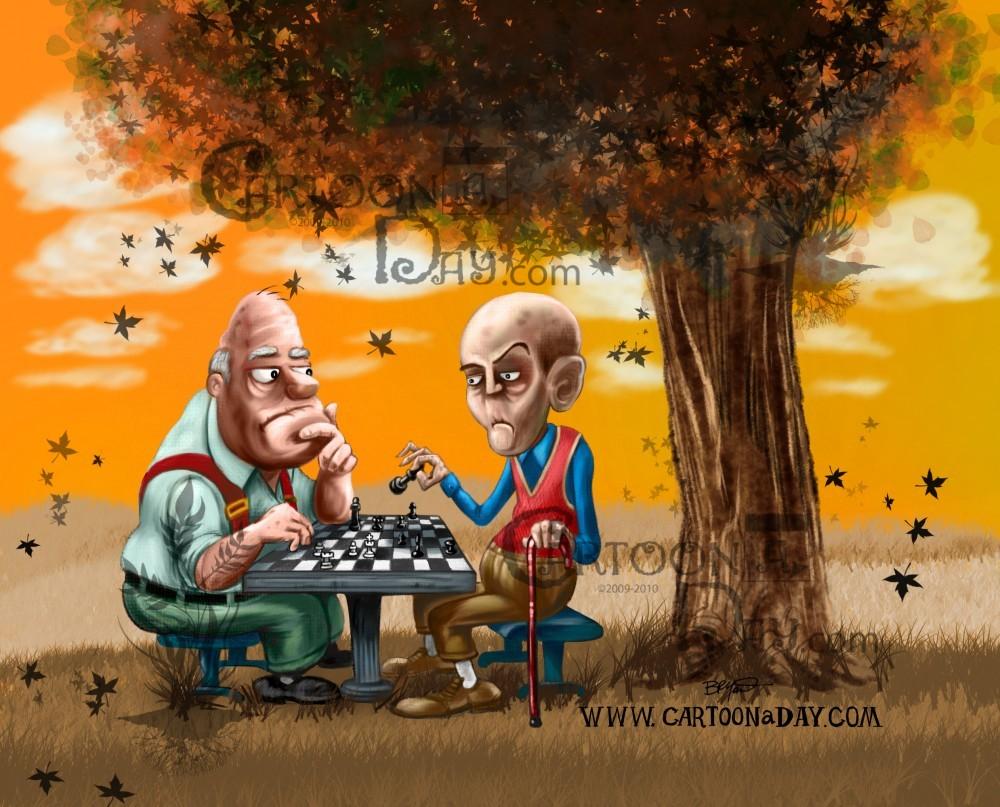 Cute Desktop Wallpaper Reddit Cartoon Chess In The Park Painting Cartoon