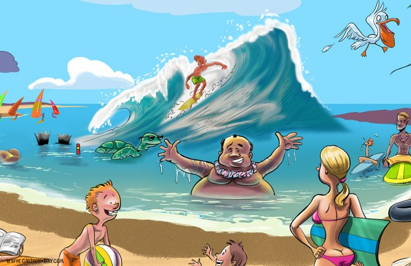Persona 4 The Animation Wallpaper Cartoon Beach Scenery Www Pixshark Com Images