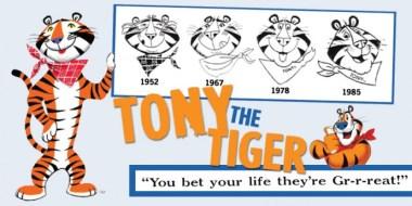 Tony the Tiger Evolution