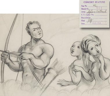 Concept drawing from Fantasia by Sylvia Holland.