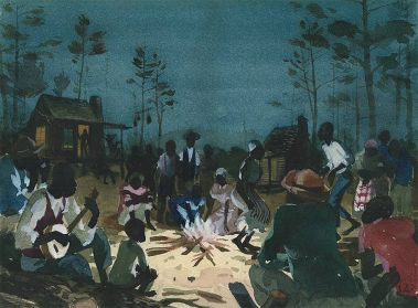 Concept painting for live-action sequences of Song of the South.