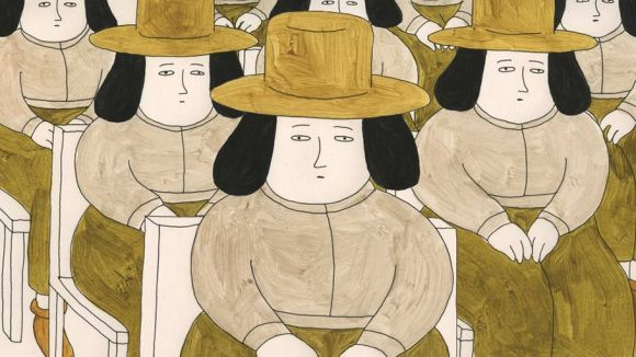 Small People with Hats by Sarina Nihei.