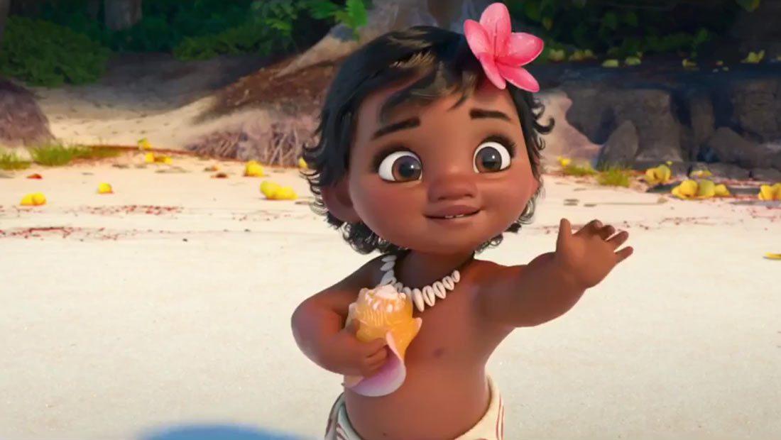 Cute Anime Girl Wallpaper Waving Disney Introduces Baby Moana In Japanese Trailer