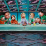 """Last Supper in South Park"" painting by Ron English"