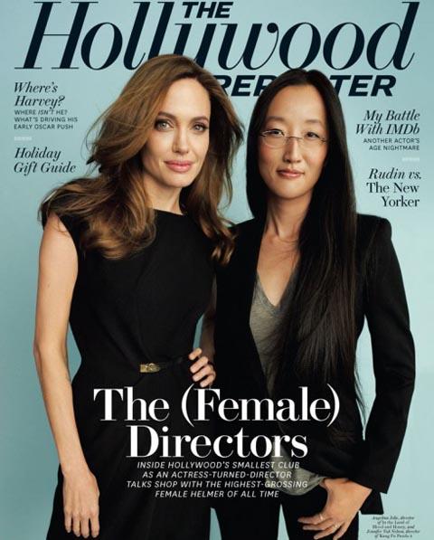 Jennifer Yuh Nelson and Angelina Jolie