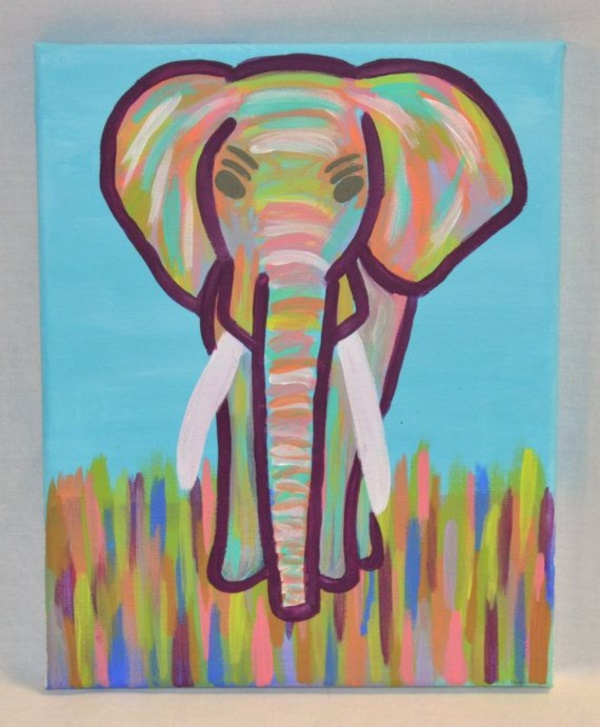 Cute Elephant Cartoon Wallpapers 90 Easy Abstract Painting Ideas That Look Totally Awesome