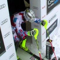 Interessanter Fehlstart beim Ski-Slalom