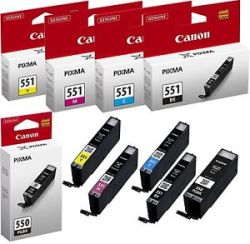 Canon PG550 CL551 Ink Cartridges Manchester
