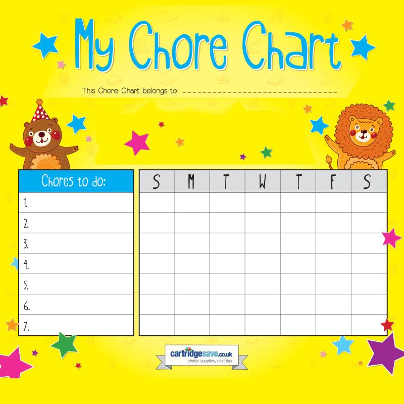 Printable Chore Chart For Kids \u2013 Print what matters
