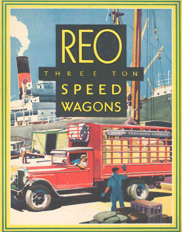 3 ton speedwagon REO Car Ads Pinterest Antique trucks, Cars - advertisement brochure