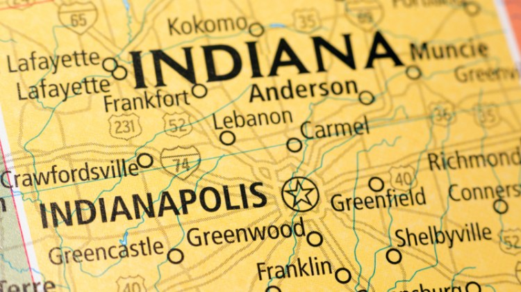 Map of Indiana, Indianapolis