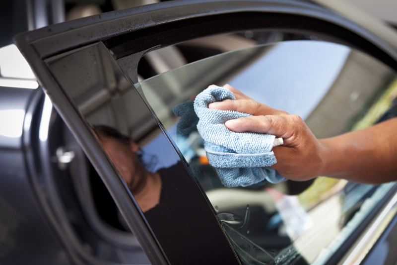 Window tinting, window tint, cleaning tinted window, glass,