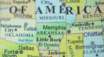 Map, Arkansas, Little Rock, El Dorado, Nashville, Tennessee, symbol.