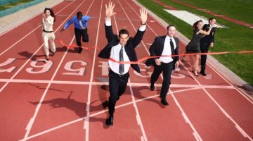 finish line, competition, business men, business women, workers, running