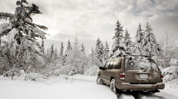 winter, snow, SUV, winter landscape, trees, preparing vehicles for the winter
