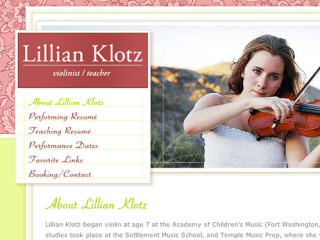 Lillian Klotz, Violinist