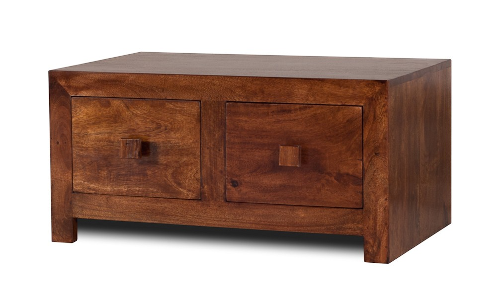 4 Drawer Mango Coffee Table Small Casa Bella Furniture Uk