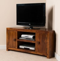 Dakota Mango Large Corner TV Unit | Casa Bella Furniture UK