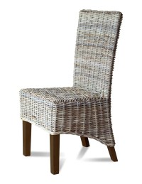 Kubu Grey Rattan Dining Chair Dark | Casa Bella Furniture UK