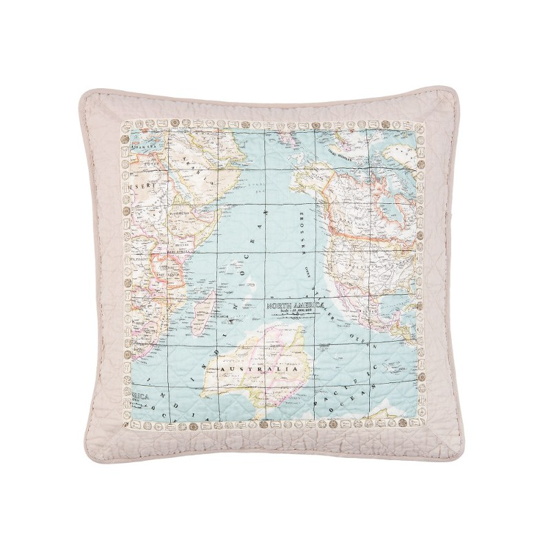 Cuscina con cartina del mondo - Cuscini- Casa Country Shop online - cartina mondo