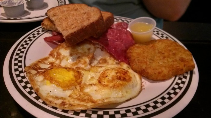 corned beef breakfast from Lucky Dill Deli