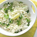 "Cilantro-Lime Cauliflower ""Rice"""
