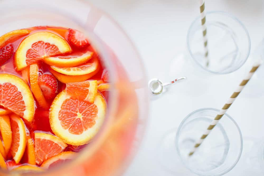 Sparkling Grapefruit and Orange Sangria