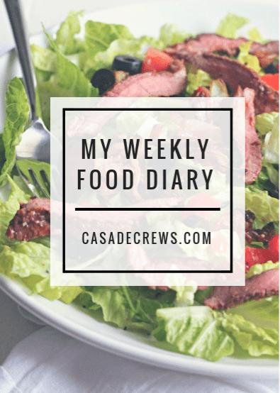 my weekly food diary: week two