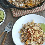 Low-carb Cheesy Taco Skillet with Cauliflower Rice