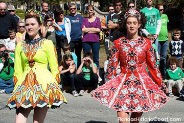 colorful festival dance costumes