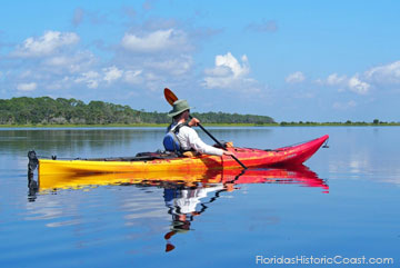 Kayaking in the local waters