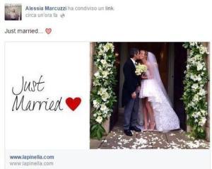 Alessia Marcuzzi sposa